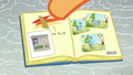 Scootaloo pastes Baby Rainbow pictures in her scrapbook S7E7.png