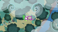 Spike falling out of the sky S8E11