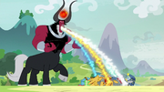 Tirek draining the Pillars of their magic S9E24