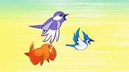 Trzy ptaszki