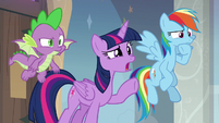 Twilight Sparkle calls out into the silence S8E16