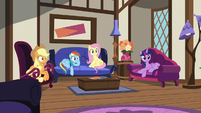 Twilight and friends in Quills and Sofas S7E19