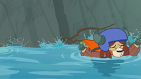 Yona's life vest gets caught on a branch S8E9