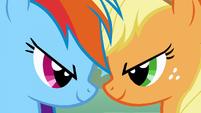 Applejack and Rainbow Dash head clash S1E13