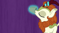 Autumn Blaze drinking magic tea S8E23