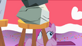 Derpy Party Pinkie under stool S01E25.png