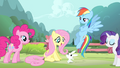 Fluttershy 'Oh! Angel's right' S4E14.png