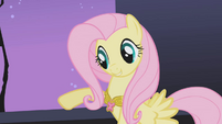 Fluttershy points out Rarity's necklace S1E02