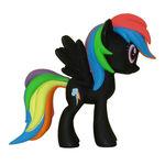 Funko Rainbow Dash black vinyl figurine