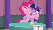 Pinkie Pie hugging Twilight Sparkle S9E16