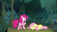 Pinkie Pie shocked at Fluttershy's words S8E13