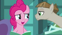 Pinkie Pie uncomfortable -suggest away!- S8E3