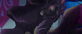 Princess Celestia frozen in obsidian MLPTM