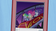 Rainbow, Pinkie, and Rarity riding roller coaster EG2