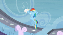 Rainbow Dash happy that she passed S4E21