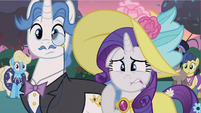 Rarity biting lip S2E9