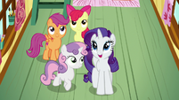 Rarity impressed by the Crusaders' accomplishments S7E6