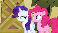 Rarity upset face S2E19