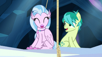 Silverstream and Sandbar on rising beam S9E3