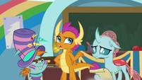 "Smolder ""that was a disaster"" S9E15"