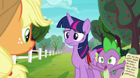 Spike --doesn't sound like Rarity or Pinkie Pie-- S6E22