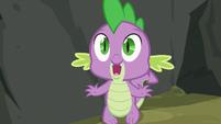 Spike noticing Applejack S3E9