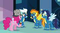 "Spitfire answers Pinkie Pie ""affirmative"" S7E23"