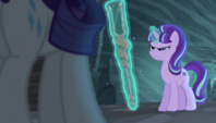 Starlight glares at the Mane Six S5E1
