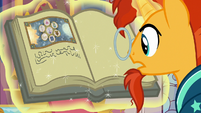 Sunburst reading Star Swirl's last journal entry S7E25