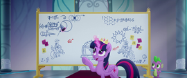 Twilight draws Luna on the whiteboard MLPTM