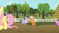 Wingless Rainbow Swoop and Emerald Green celebrating with cider S02E15.png