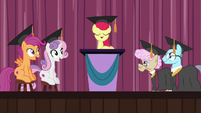 Adult Crusaders at graduation ceremony S9E22