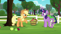 "Applejack ""Pinkie Pie says it's Rarity's fault"" S6E22"