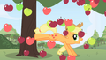 Applejack and raining apples S1 opening.png