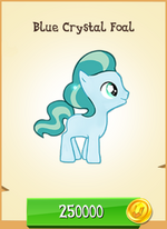 Blue Crystal Foal MLP Gameloft