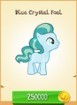 Blue Crystal Foal MLP Gameloft.png
