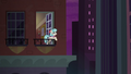 Coco on her balcony at nighttime S5E16.png