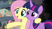 "Fluttershy ""found one of her descendants!"" S7E20"
