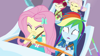 Fluttershy and Dash scared together EGROF