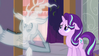 Ghost Discord leaning closer to Starlight S8E15