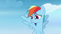 Rainbow Dash being patient with Vapor Trail S6E24