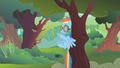Rainbow thrown against a tree S01E10.png