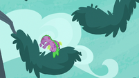 Spike falling on tree branches S8E11