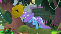 Trixie bows and knocks beehive out of a tree S9E20