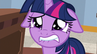 Twilight biting lower lip in intense fear S8E16