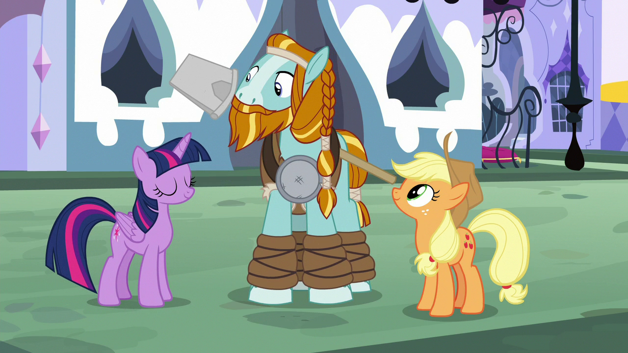 Image Twilight Nods In Agreement With Applejack S8e21g My