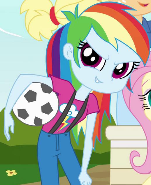 Rainbow Dash As A CHS Freshman In My Little Pony Equestria Girls Kind Human