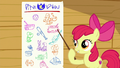 Apple Bloom pointing at the cutie mark chart S6E19.png