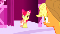 Apple Bloom smiles at AJ S5E7