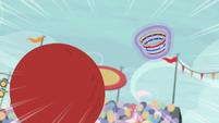 Buckball rockets toward Team Ponyville's basket S9E6